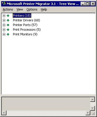 Rysunek 1 Program Printer Migrator